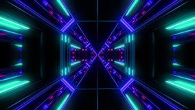 Rendição reflexiva de incandescência alta do fundo 3d do vjloop do túnel do espaço da galáxia ilustração do vetor