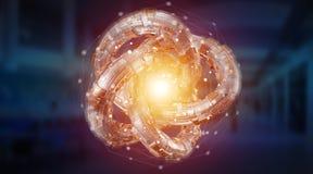 Rendição textured do objeto 3D do toro tecnologia futurista Foto de Stock Royalty Free