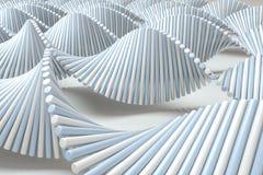 a rendi??o 3d, o ADN da espiral consiste em linhas ilustração do vetor