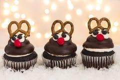 Rendier Cupcakes Royalty-vrije Stock Foto