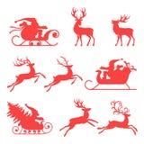 Rendier en de Kerstman Royalty-vrije Stock Fotografie