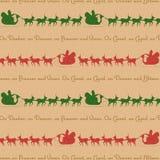 Rendier het achtergrond van de Kerstman Stock Foto