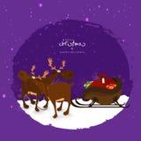 Rendier met ar voor Kerstmis en Nieuwjaar Royalty-vrije Stock Fotografie