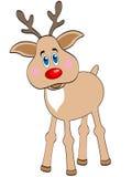 Rendier met een rode neus Stock Afbeelding