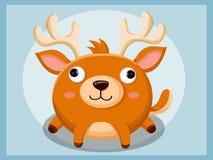 Rendierbeeldverhaal Grappig beeldverhaal en vector dierlijke karakters Stock Afbeeldingen