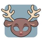 Rendiermasker voor festiviteiten stock illustratie