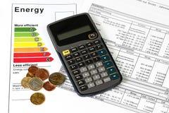 Rendimento energetico Fotografie Stock Libere da Diritti