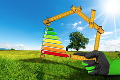 Rendimento energetico - progetto della Camera ecologica Immagine Stock