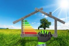 Rendimento energetico - progetto della Camera ecologica Immagini Stock
