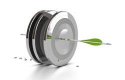 Rendimiento empresarial, desafío, blanco de la flecha libre illustration
