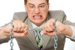 rending цепи бизнесмена Стоковая Фотография