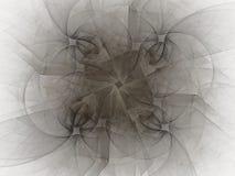 rendição 3d com teste padrão abstrato cinzento do fractal Fotografia de Stock Royalty Free
