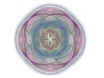rendição 3d com teste padrão abstrato colorido do fractal Foto de Stock