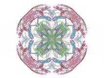 rendição 3d com teste padrão abstrato colorido do fractal Imagens de Stock Royalty Free
