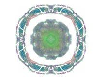rendição 3d com teste padrão abstrato colorido do fractal Fotografia de Stock Royalty Free