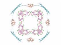 rendição 3d com teste padrão abstrato colorido do fractal Foto de Stock Royalty Free