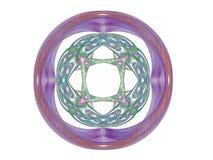 rendição 3d com teste padrão abstrato colorido do fractal Imagens de Stock