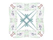 rendição 3d com teste padrão abstrato colorido do fractal Imagem de Stock