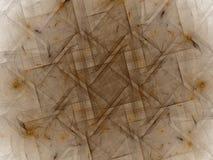 rendição 3d com teste padrão abstrato marrom do fractal Foto de Stock Royalty Free