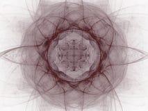 rendição 3d com teste padrão do fractal do sumário de Borgonha Foto de Stock