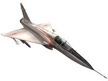 rendição 3d de uma miragem Jet Fighter Foto de Stock Royalty Free