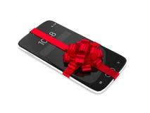 rendição 3d do smartphone com curva sobre o branco Imagens de Stock Royalty Free