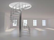 Rendição espiral da escada 3D Imagens de Stock