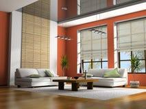Rendição Home do interior 3D Fotografia de Stock Royalty Free