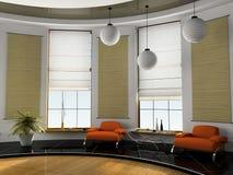 Rendição Home do interior 3D Fotos de Stock Royalty Free