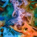Rendiring detalhado do fractal da chama para a arte, a ilustra??o e o projeto fotos de stock