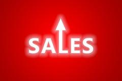 Rendita da vendite aumentante Fotografie Stock
