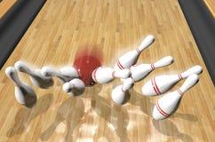 Rendr di Bowling.3d Immagine Stock