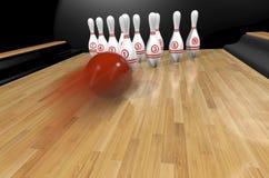Rendr di Bowling.3d Fotografie Stock