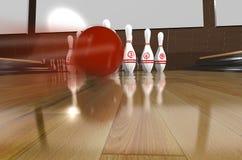 Rendr di Bowling.3d Fotografia Stock Libera da Diritti