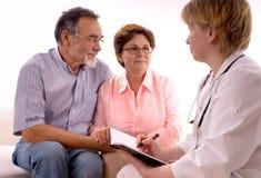Rendre visite à un docteur Photo libre de droits