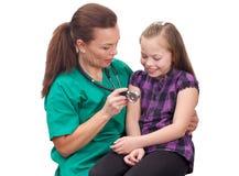 Rendre visite au docteur Image stock