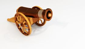 rendring 3D av Ramadan Metal Vintage Old Cannon Stock Illustrationer