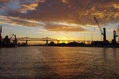Rendsburg bridge. Royalty Free Stock Photography