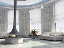 Rendu à la maison de l'intérieur 3D Image stock