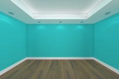 Rendu à la maison de l'intérieur 3D avec la pièce vide Photographie stock