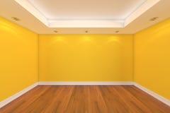 Rendu à la maison de l'intérieur 3D avec la pièce vide Image libre de droits