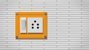 Rendu électrique de commutateur et de prise 3d Photos libres de droits