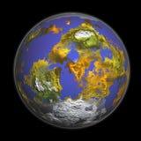 rendu 3D de la terre Images libres de droits