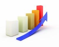 rendu 3D pour le graphique de gestion Images stock