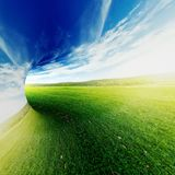 Rendu abstrait du fond 3d de paysage d'été Photo stock