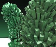 Rendu abstrait en cristal cubique de fond en métal brillant brillant Photographie stock libre de droits