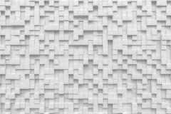Rendu aléatoire du pandom 3d de pixel de fond de cube blanc en petite case Image libre de droits