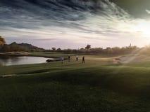 Rendu artistique du 18ème paradis de golf de trou Images libres de droits