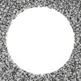 Rendu autour du cadre fait de pierres se trouvant aux bords avec l'espace vide blanc au milieu Images libres de droits