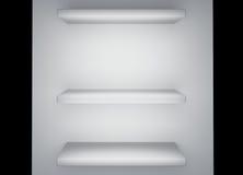 Rendu blanc de l'étagère 3d Image libre de droits